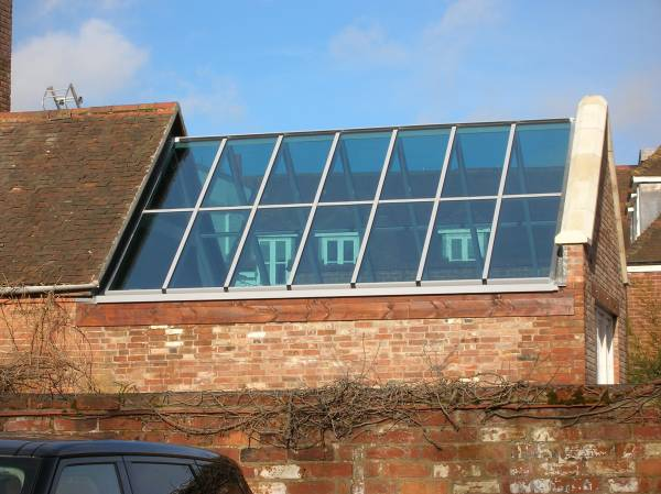 Double Pitched Roof Lights