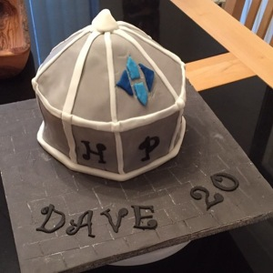 Happy Anniversary Dave! To celebrate, here's a replica of one of our rooflights turned into a cake!